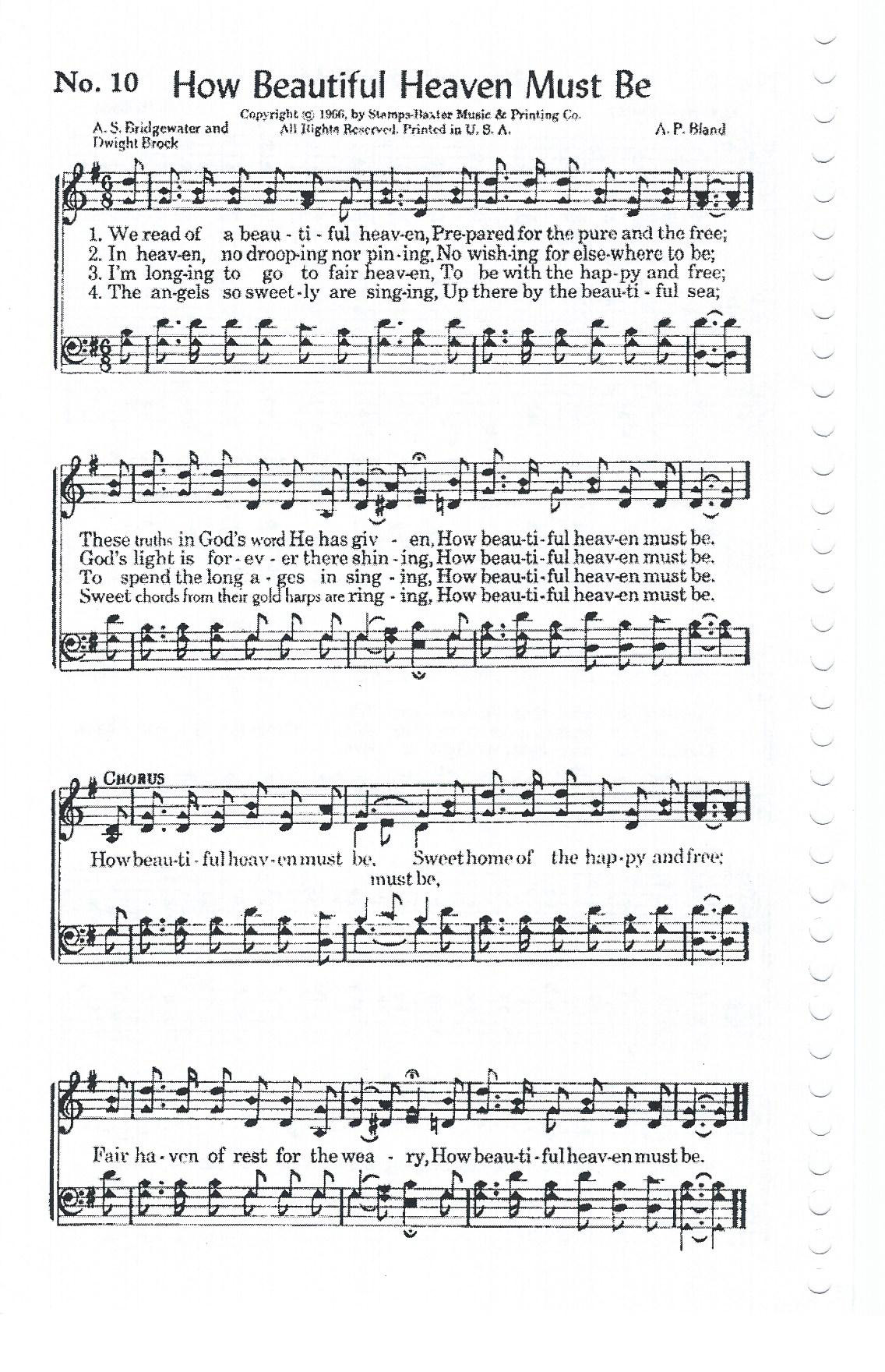 Heaven Is A Wonderful Place Free Sheet Music Wonderful Place
