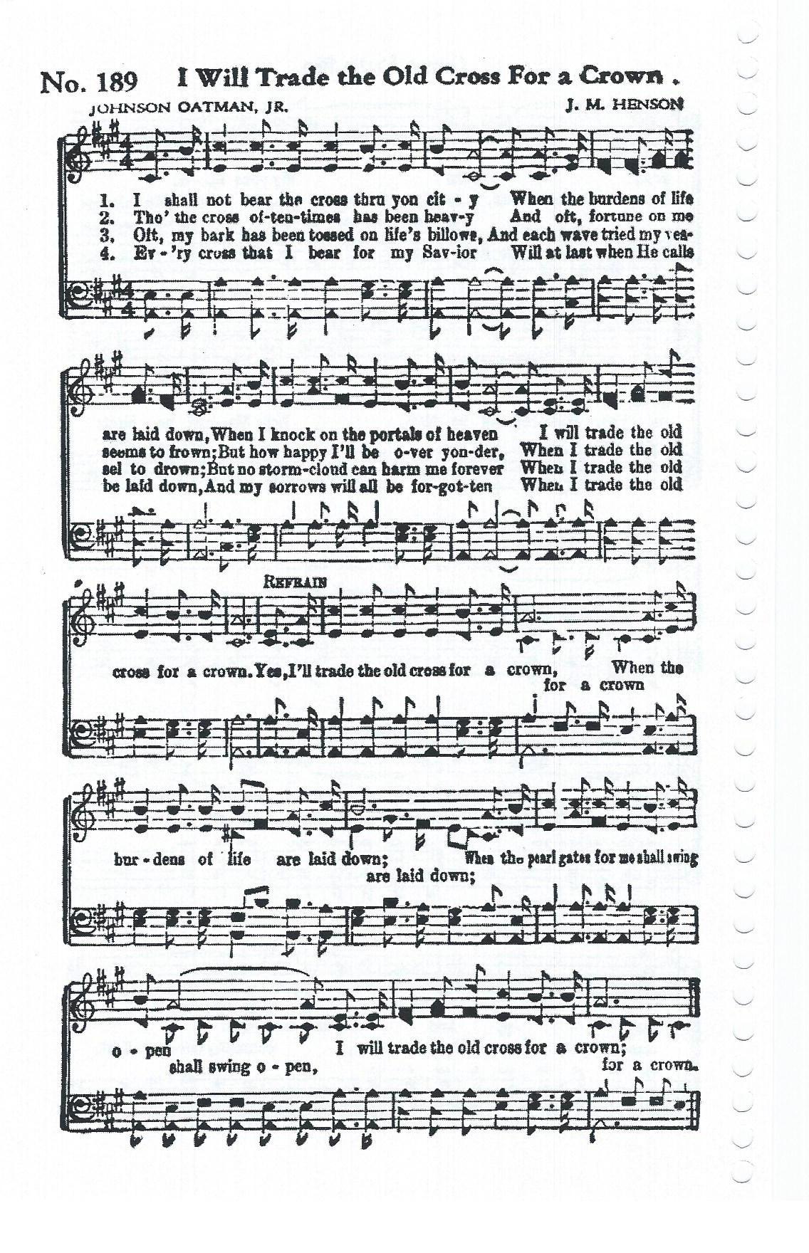 Song Sheet